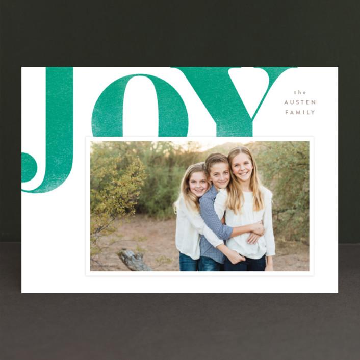"""Statement Joy"" - Holiday Photo Cards in Velvet by kelli hall."