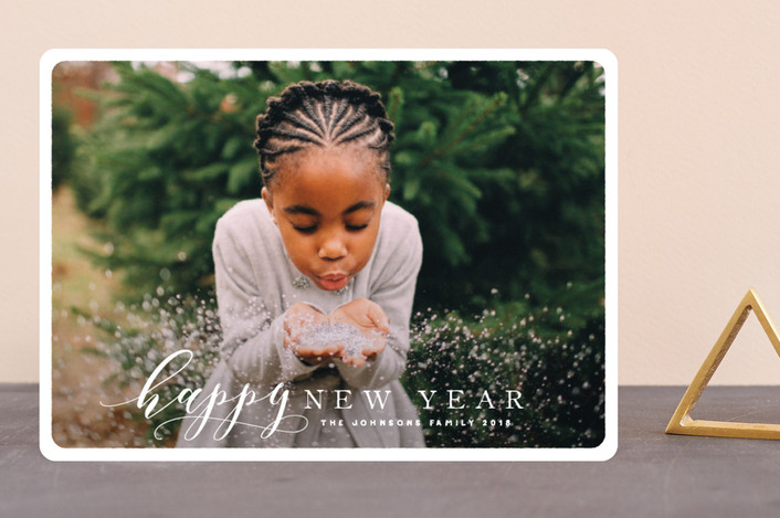 """Thoughtful"" - Holiday Photo Cards in Icing by Design Lotus."