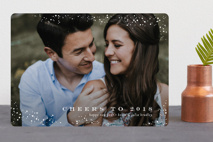 """""""Snow Lightly"""" - Holiday Photo Cards in Snowflake by Jessica Williams."""