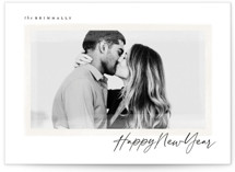 This is a black holiday photo card by Wildfield Paper Co called Glisten with standard printing on smooth signature in standard.