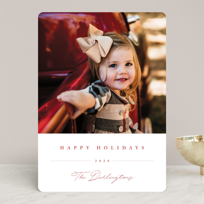 """Sweet Signature"" - Holiday Photo Cards in Berry by Chryssi Tsoupanarias."