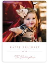 This is a red holiday photo card by Chryssi Tsoupanarias called Sweet Signature with standard printing on smooth signature in standard.