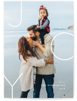This is a white holiday photo card by carly reed walker called Medianoche with standard printing on smooth signature in standard.