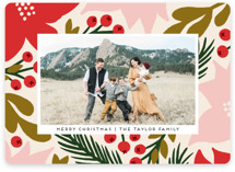 This is a pink holiday photo card by Genna Blackburn called Imprint with standard printing on smooth signature in standard.