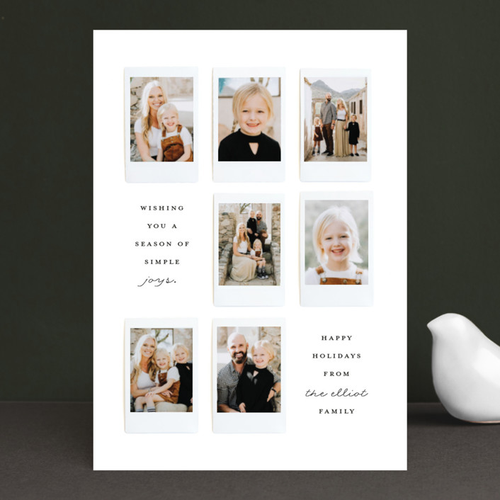 """Instant Gallery"" - Holiday Photo Cards in North Star by Olivia Kanaley."