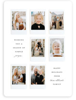 This is a black and white holiday photo card by Olivia Kanaley called Instant Gallery with standard printing on smooth signature in standard.