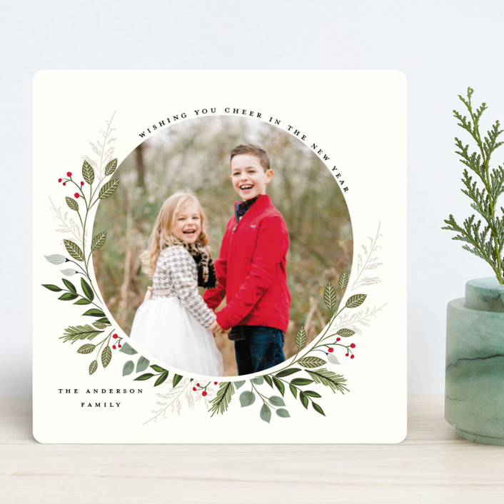 """""""Mistletoe Kissed"""" - Holiday Photo Cards in Fern by Susan Moyal."""