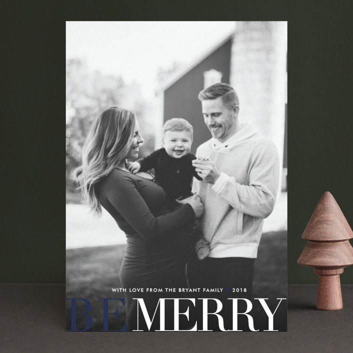 """Big and Merry"" - Holiday Photo Cards in Ruby by Carrie ONeal."