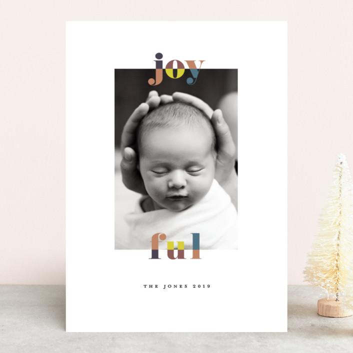 """""""color-block joyful"""" - Holiday Photo Cards in Classic by Faith Dorn."""