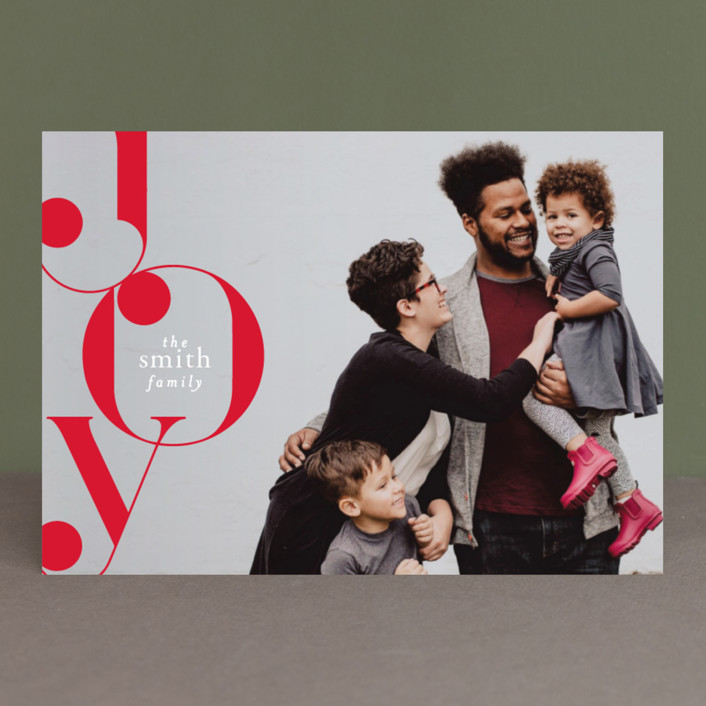 """""""Deco Stack"""" - Holiday Photo Cards in Daisy by AK Graphics."""