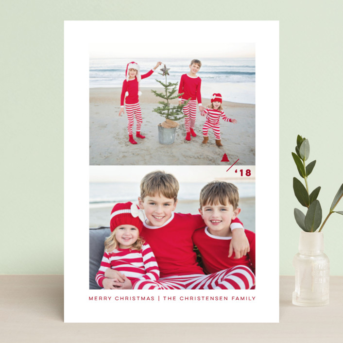 """True Minimalism"" - Holiday Photo Cards in Snow by fatfatin."