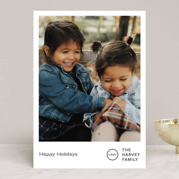 """""""Punched"""" - Holiday Photo Cards in Chestnut by Jack Knoebber."""