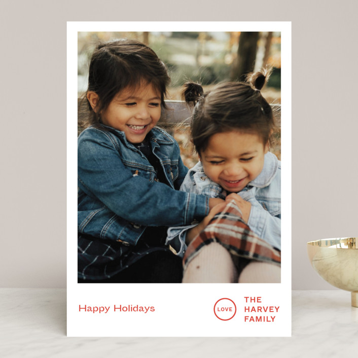 """""""Punched"""" - Holiday Photo Cards in Holly by Jack Knoebber."""