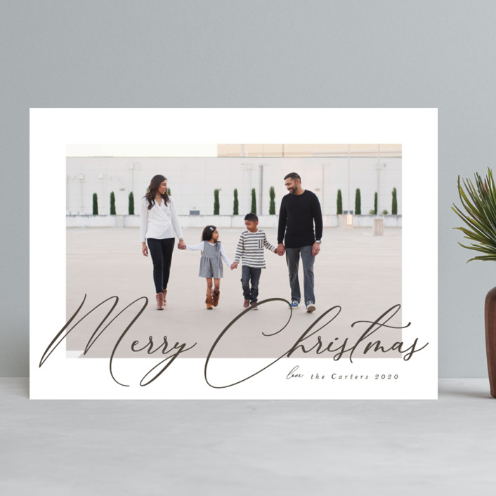 """Wander"" - Holiday Photo Cards in Snowflake by Nicole Walsh."