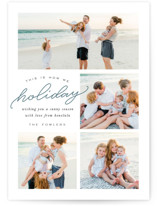 This is a blue holiday photo card by Leah Bisch called How We Holiday with standard printing on smooth signature in standard.