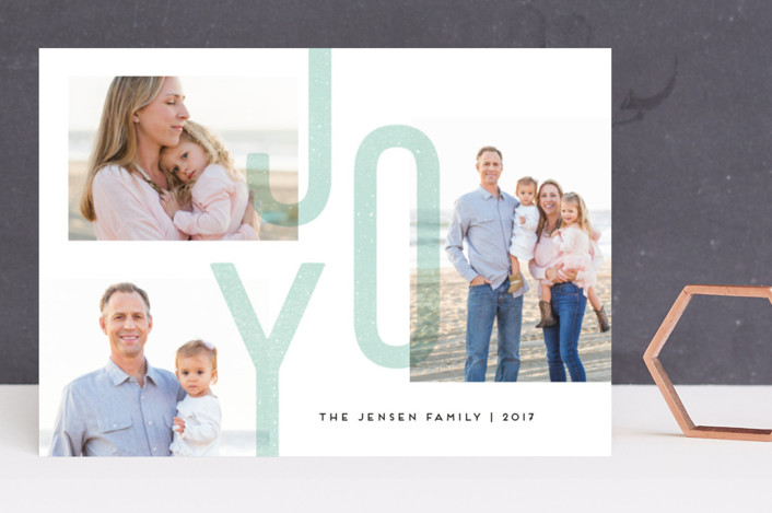 """Joy Always"" - Holiday Photo Cards in Frost by Jennifer Wick."