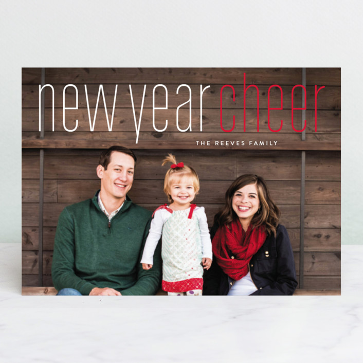 """""""Merry Holiday"""" - Holiday Photo Cards in Very Berry by Erin Deegan."""