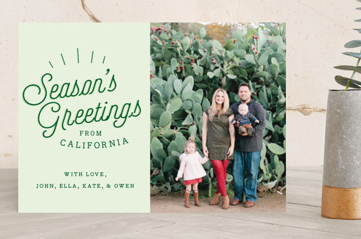 """Season's Greetings From.."" - Holiday Photo Cards in Pine Grove by Allison Cornu."