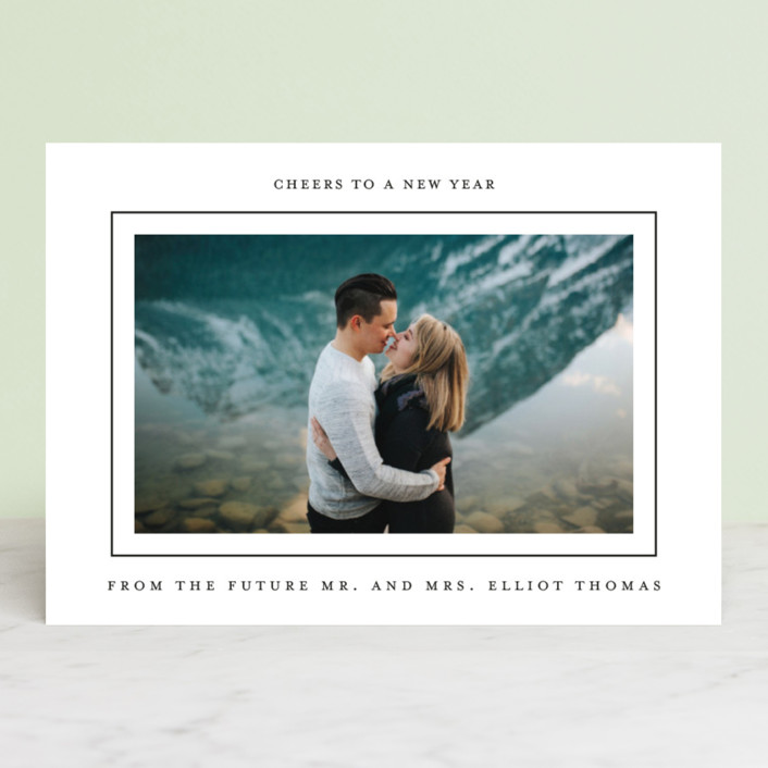 """Merry Little Xmas"" - Holiday Photo Cards in Tuxedo by Jessica Voong."