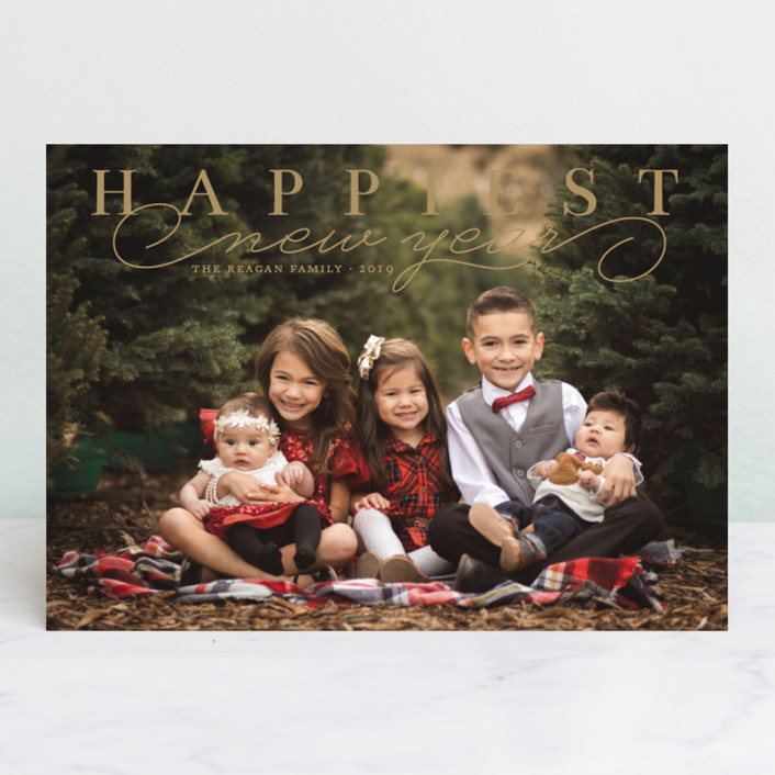 """""""Happiest Classic"""" - Holiday Photo Cards in Snow by Alston Wise."""