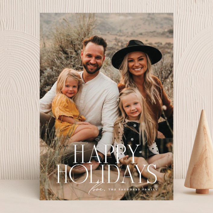 """""""Headliner"""" - Holiday Photo Cards in Snowflake by Jessica Williams."""