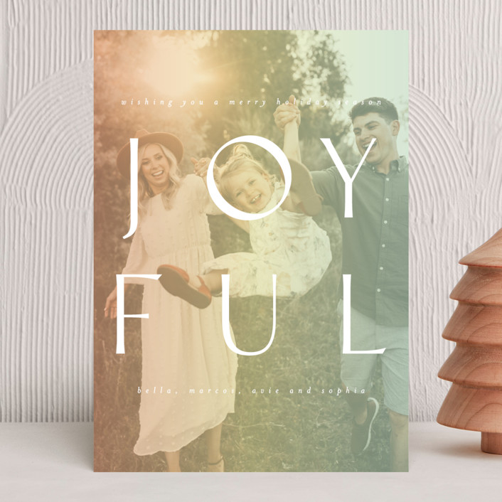 """""""Fully Joyful"""" - Holiday Photo Cards in Sherbet by Ashlee Townsend."""