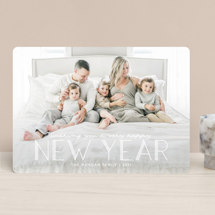 """""""Deco Christmas"""" - Holiday Photo Cards in Snowflake by Annie Holmquist."""