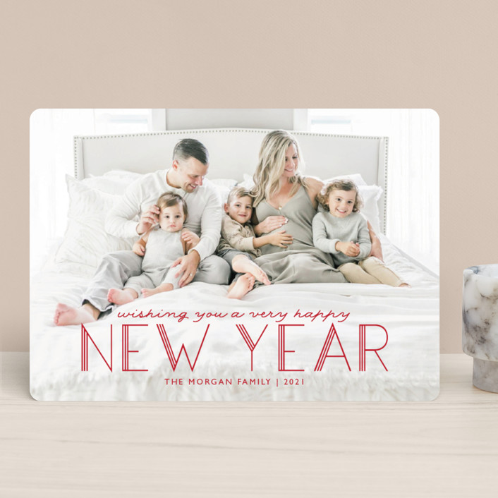 """""""Deco Christmas"""" - Holiday Photo Cards in Holly by Annie Holmquist."""
