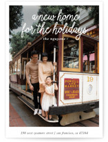 This is a white holiday photo card by Christine Taylor called A New Home for the Holidays with standard printing on smooth signature in standard.
