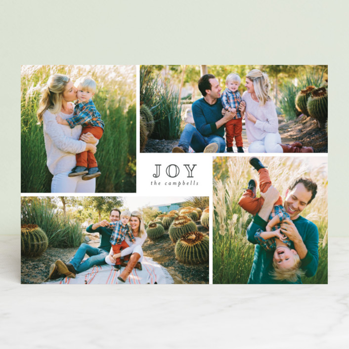 """Much Joy"" - Holiday Photo Cards in Midnight by peony papeterie."