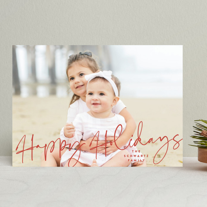 """""""Luces"""" - Holiday Photo Cards in Candy Cane by carly reed walker."""