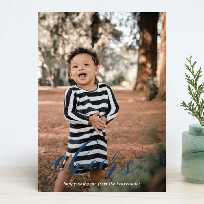 """""""Jubilant"""" - Holiday Photo Cards in Pomegranate by Jessica Williams."""
