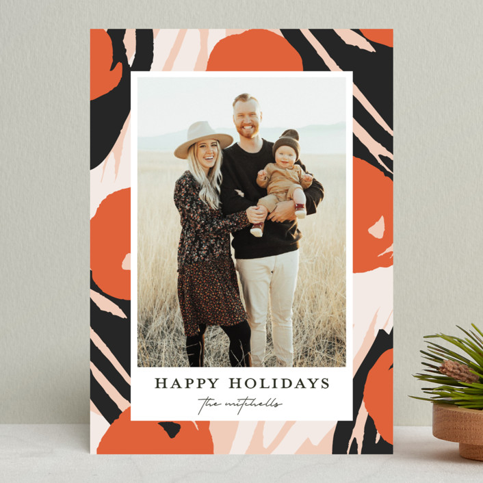 """""""Florella"""" - Modern Holiday Photo Cards in Candied by Christie Garcia."""