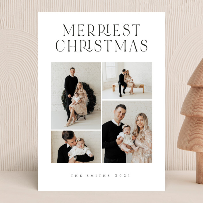 """""""Timeless Elegance"""" - Holiday Photo Cards in Snow by Grae."""