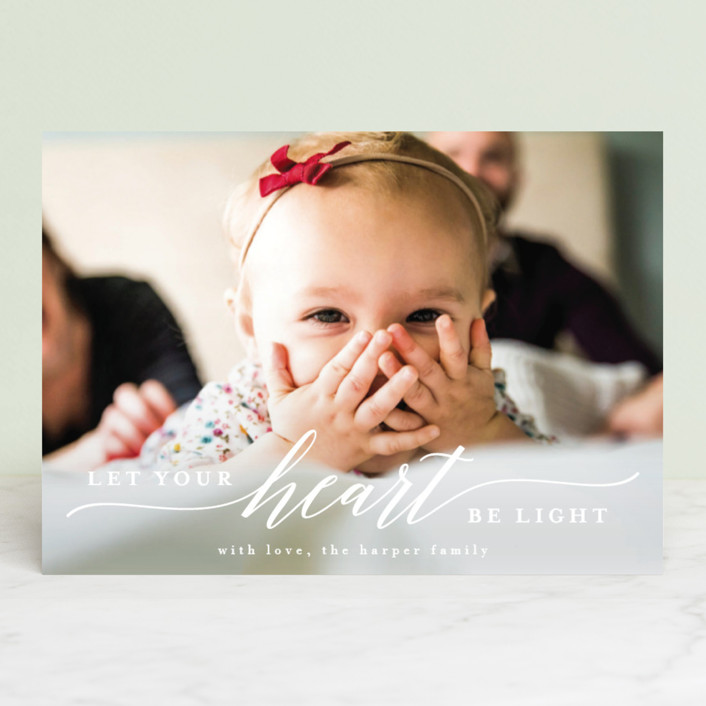 """light-hearted"" - Holiday Photo Cards in Daisy by Susan Asbill."