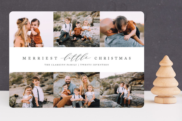 """""""Merriest Little Xmas"""" - Holiday Photo Cards in Coal by Jessica Maslyn."""