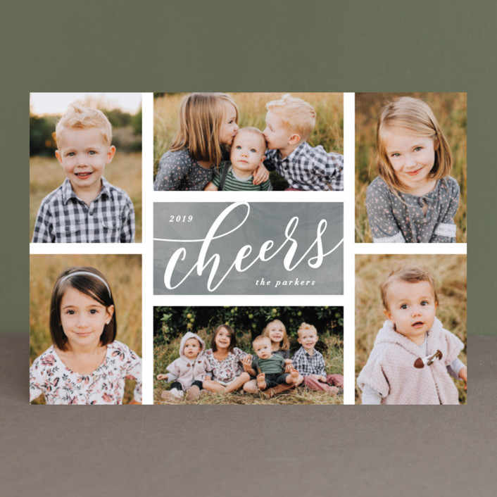 """The Merry Six"" - Holiday Photo Cards in Ruby by Hooray Creative."