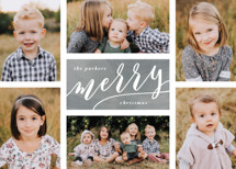 The Merry Six Holiday Photo Cards By Hooray Creative
