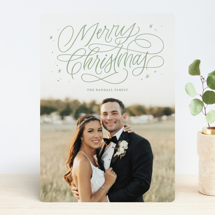 """Merry Shimmer"" - Holiday Photo Cards in Frost by Kristen Smith."