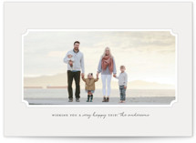 This is a grey holiday photo card by Melissa Casey called Perfectly Simple with standard printing on smooth signature in standard.