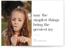 This is a black holiday photo card by Iveta Angelova called The Simplest Things with standard printing on smooth signature in standard.