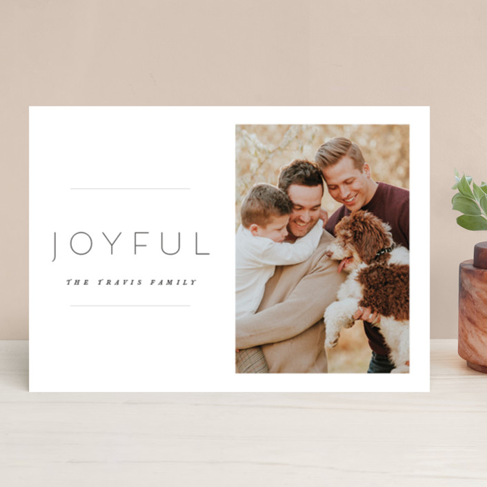 """""""the edit"""" - Holiday Photo Cards in Linen by Design Lotus."""