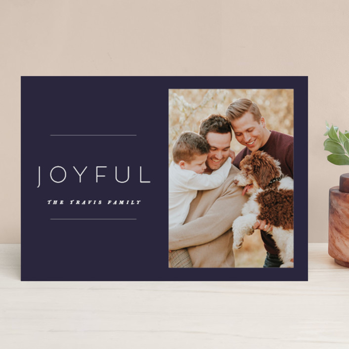 """the edit"" - Holiday Photo Cards in Night by Design Lotus."
