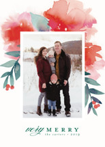 Blooms + Berries Holiday Photo Cards By Lori Wemple
