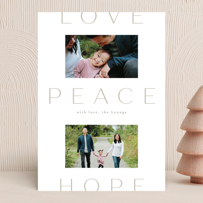 """Peace to You"" - Holiday Photo Cards in Snow by Amy Kross."