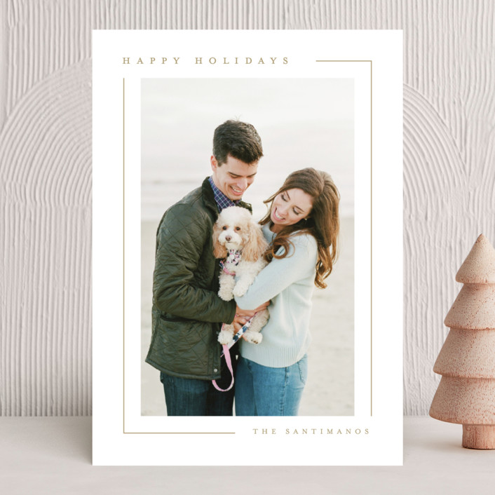 """Simply Serene"" - Holiday Photo Cards in Gingerbread by Lauren Chism."