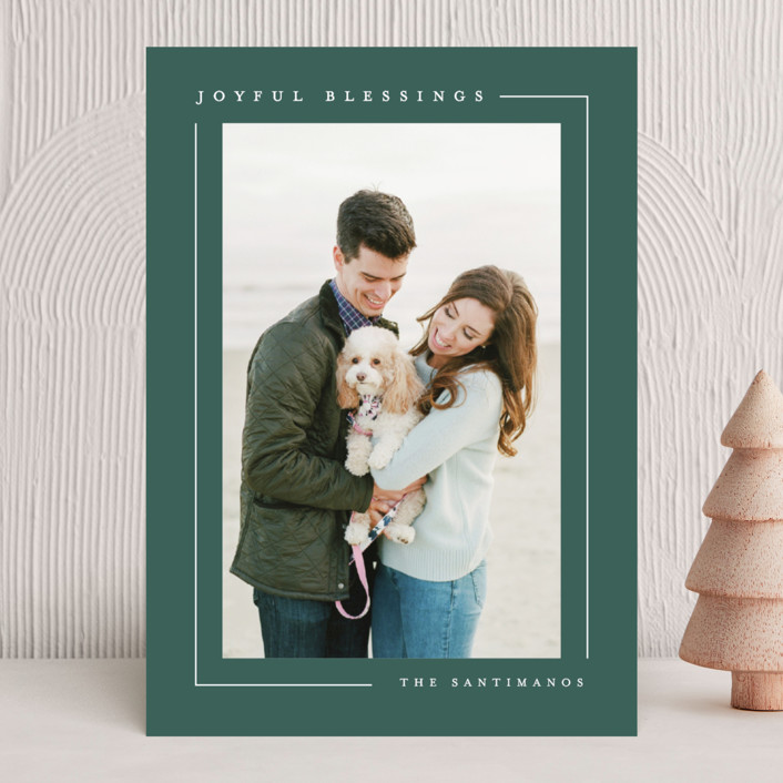 """""""Simply Serene"""" - Holiday Photo Cards in Snow by Lauren Chism."""