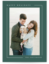 This is a green holiday photo card by Lauren Chism called Simply Serene with standard printing on recycled smooth signature in standard.