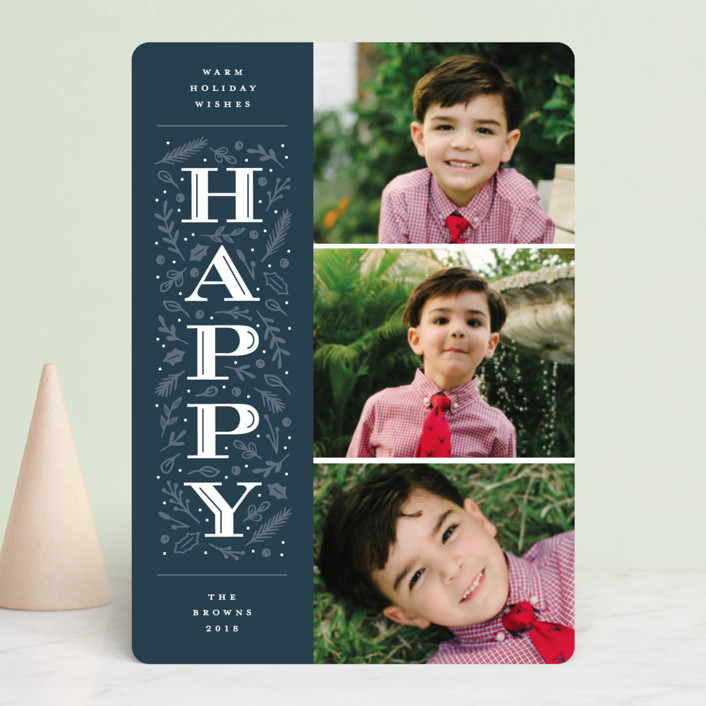 """""""Warm Merry Wishes"""" - Holiday Photo Cards in Holly by Michelle Taylor."""