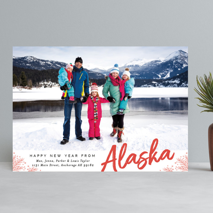 """""""Merry Christmas From"""" - Holiday Photo Cards in Pumpkin by Alethea and Ruth."""